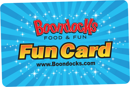 Fun Cards Gift Cards | Boondocks Food & Fun | Draper, UT