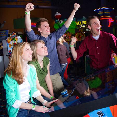 Boondocks - Group Celebrating Arcade Game Win