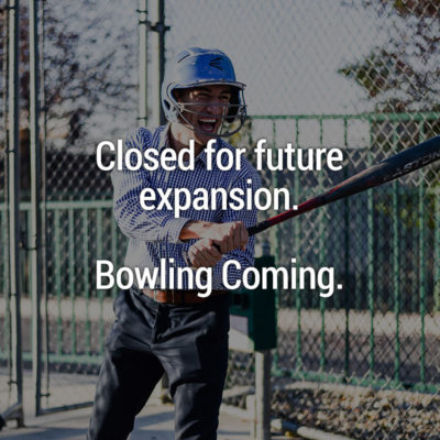 Batting cages closed for future expansion.